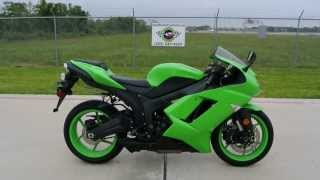 7. 2008 Kawasaki ZX6R 600 Ninja Supersport in Lime Green