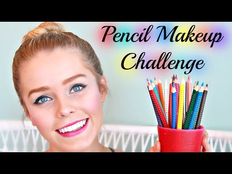 Full Face Pencil Makeup Challenge | Ella Victoria (видео)