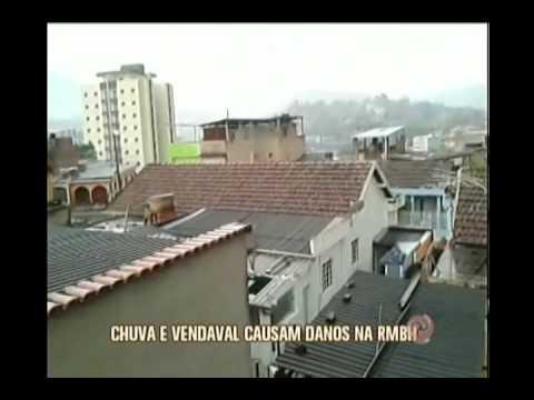 Danos causados pela chuva em Belo Horizonte
