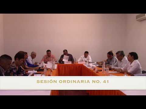 Sesión Ordinaria No.41 de Ayuntamiento 14 de agosto de 2017