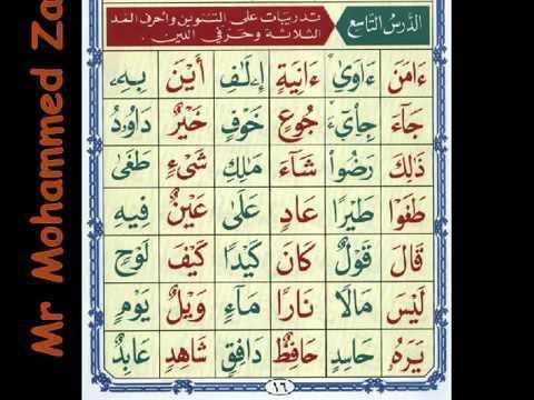 Al Noorania lesson 9 -1  Qaidah Al Nourania (видео)