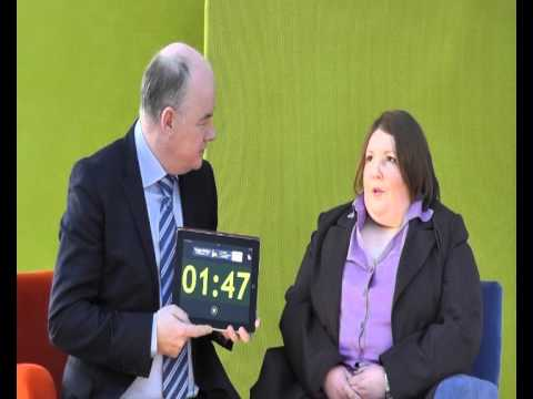 Sinead Mc Cartan, Application Assist, takes the 60 second challenge with Omagh Enterprise Company