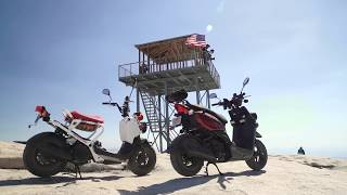 3. 2017 Honda Ruckus vs. 2017 Yamaha Zuma 50 - Adventure Scooters in the Sierra! | ON TWO WHEELS