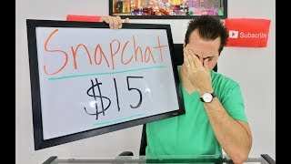 Today we talk about Snapchat stock and its fall to $15 a share!* My Stock Market Investing Strategy link!http://amzn.to/2pvkbXK* My SnapChat is : FinancialEdSnap* My Twitter Page https://twitter.com/givemethegoodz* My second favorite book on Investing http://amzn.to/2cDS2ZY* My third favorite book on Investing http://amzn.to/2cQqPDD   * My favorite book on business http://amzn.to/2cfY71k                      * My favorite Personal Finance http://amzn.to/2ckIqUE                      * My favorite movie about the stock market http://amzn.to/2cQLLx1                                                                      * My favorite movie about business http://amzn.to/2cGzLcIFinancial Education Channel