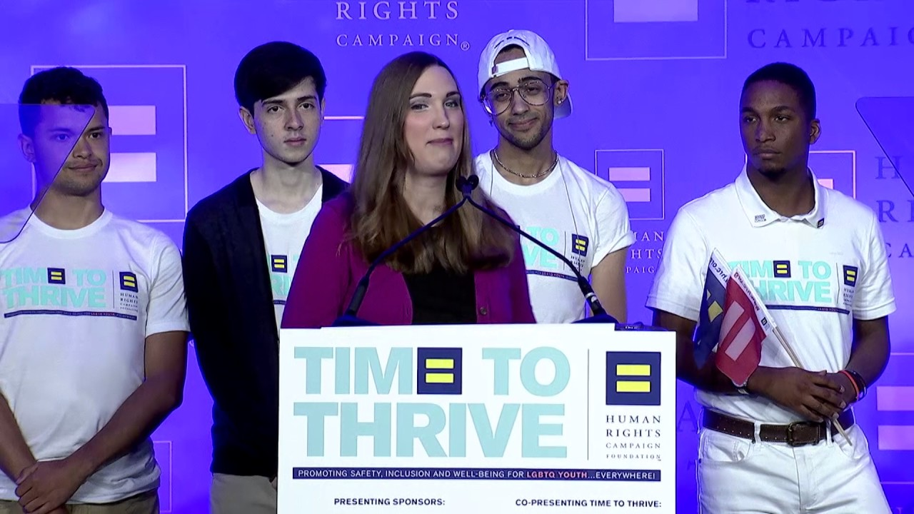 Sarah McBride at the 2017 HRC Foundation's Time To THRIVE Conference