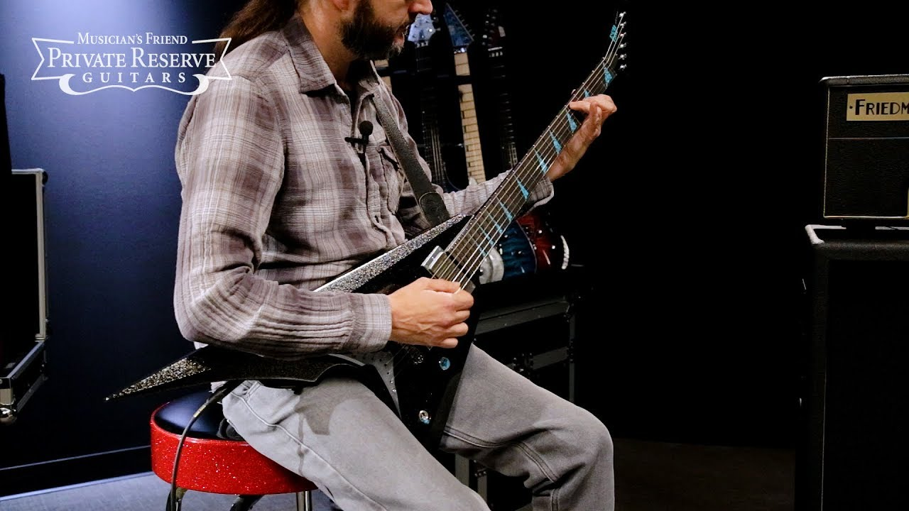 ESP Exhibition Black Metallic Custom Arrow Electric Guitar