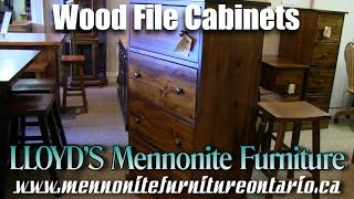 Mennonite Wood File Cabinets