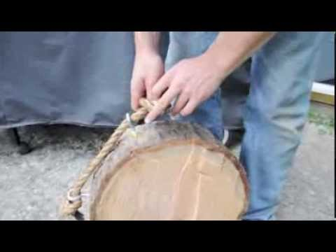 How To: Build Basic Throwing Knife Target – Hanging Log Round