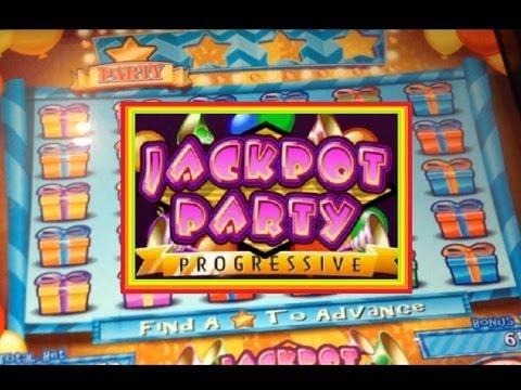 Jackpot Party Progressive Slot Machine Bonus!  ~ WMS (JACKPOT PARTY)