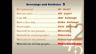 eLuganda learning video series for learning basic luganda language. this is for greetings and civilities.