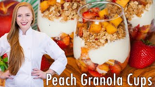 Peach Fruit Parfait by Tatyana's Everyday Food