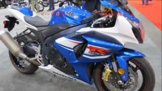2. 2013 Suzuki GSXR 1000 Blue & White Walk Around SportBike Canon Vixia HF M40 Video Test
