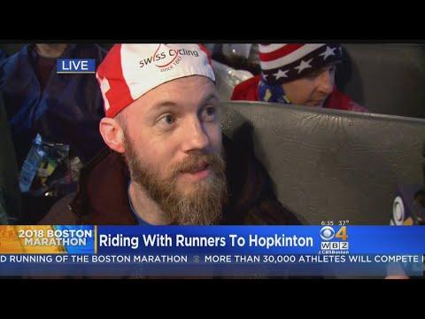 Riding With Boston Marathon Runners To Hopkinton