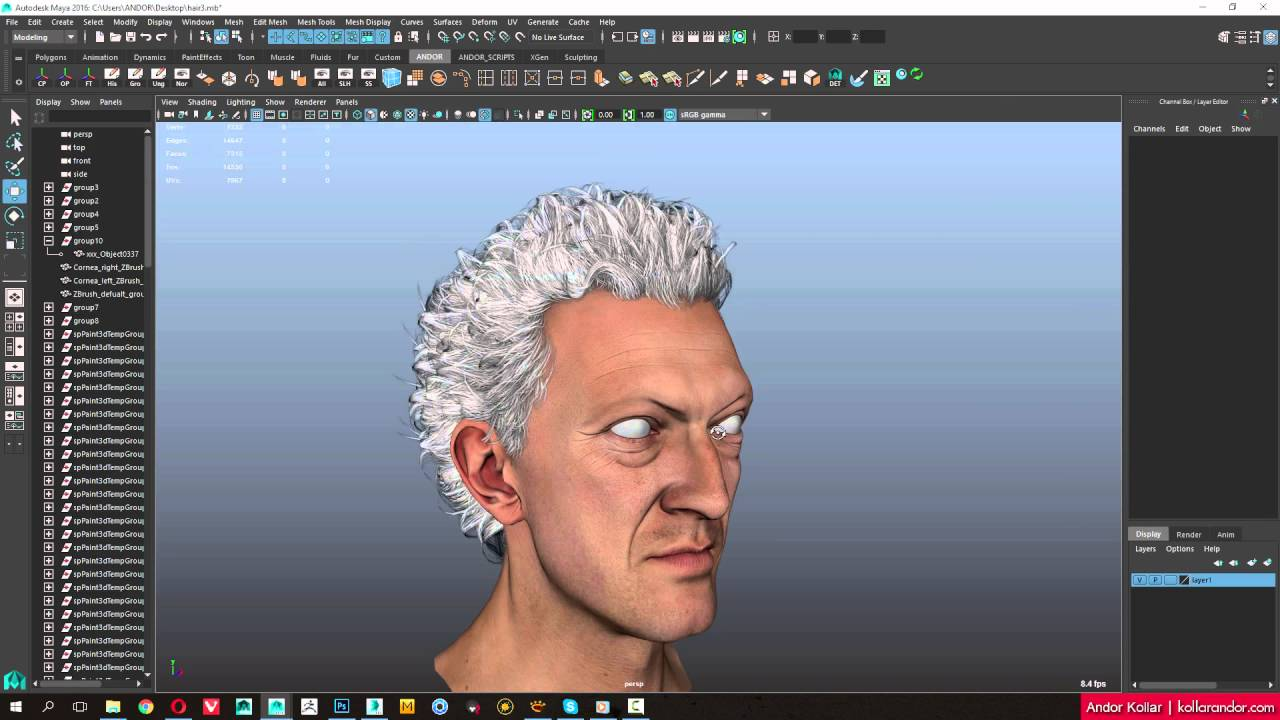 creating 3d polygon hair maya tutorial