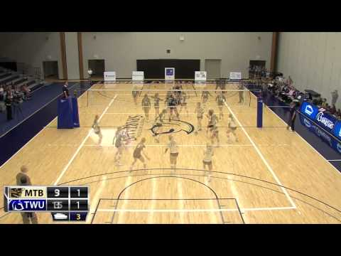 2014-11-01 TWU Women's Volleyball Highlights vs Manitoba
