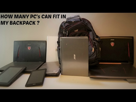 HOW MANY PC's CAN FIT IN MY BACKPACK, AND CAN MY WIFE CARRY IT ?