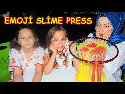 Emoji Slime Press | SLIME PRESSING (Fenomen Tv ile) - Eğlenceli Çocuk Videosu