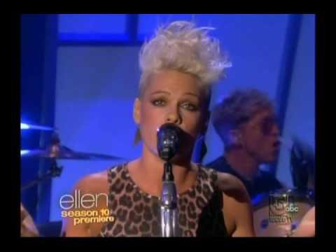 P!nk   Blow Me One Last Kiss Live on The Ellen DeGeneres Show 2012