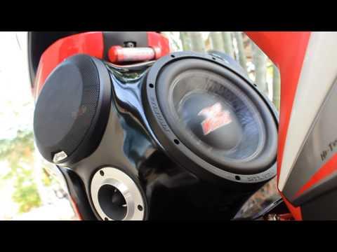 เครื่องเสียงติดมอไซส์ mio125 BY ช่างมิ้น