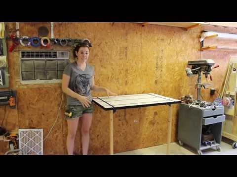 Create a Folding Rockler T-Track Table