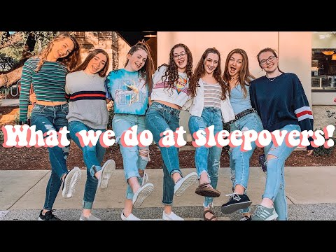 WHAT TEEN GIRLS ACTUALLY DO AT SLEEPOVERS! *it gets interesting*