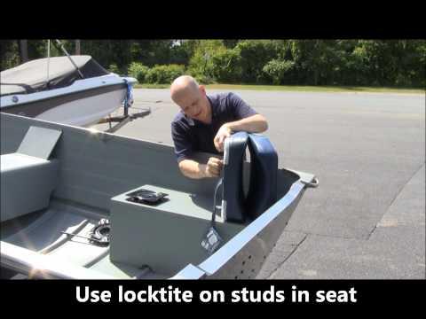 seats - DIY Installing fishing seats on your row, jon or utility fishing boat.