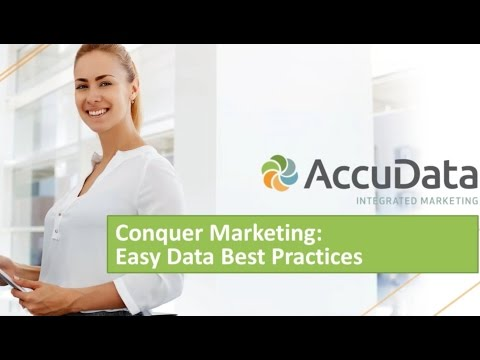 Conquer Marketing: Easy Data Best Practices