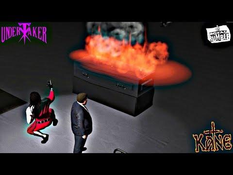 Kane (w/ Paul Bearer) Burns The Undertaker inside a Casket at Royal Rumble 1998 - WWE 2K17 PC Mods