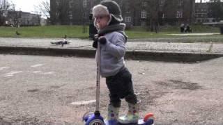 2 yr old Jude vs Mini Fascol Scooter