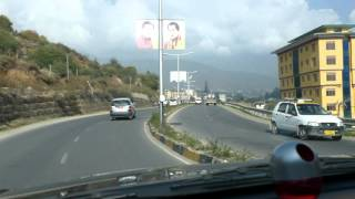 Thimphu Bhutan  City new picture : Driving into Thimphu, Bhutan, 2015-11-07