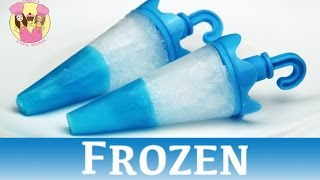 FROZEN JELLO TIP POPSICLES - ice lolly block pop - disney movie princess Elsa Anna