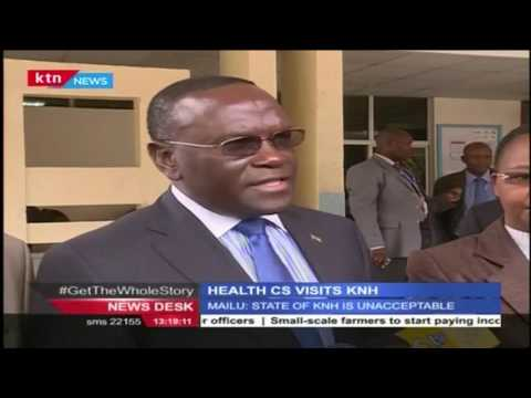 Health CS,Mailu makes impromptu visit to Kenyatta National Hospital to check on health conditions