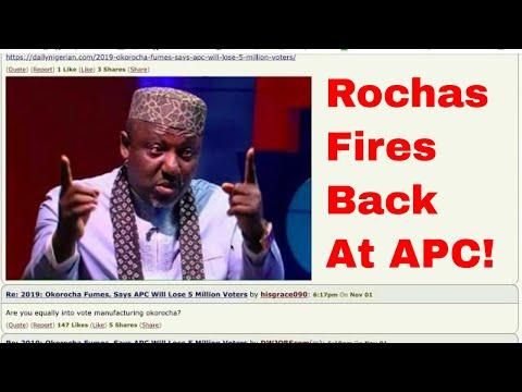 NAIJA NEWS: ROCHAS REPLIES BUHARI AND OSHIOMOLE