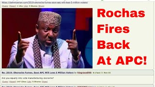 NAIJA NEWS: ROCHAS REPLIES BUHARI AND OSHIOMOLE