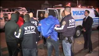 Bobby Shmurda arrested by NYPD Footage - Chain Gang