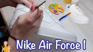 Painting my Nike Air Force 1's 😱 Shoe Customization | Kelli Maple