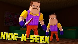 MEET THE NEIGHBOR'S SON! Minecraft Hello Neighbor HIDE N SEEK