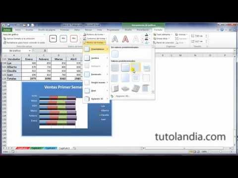 Excel 2010 Basico 53 Edicin de Grficos. (видео)