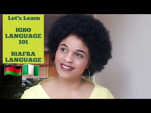 IGBO LANGUAGE  CLASS 101 (#2) Learning The Igbo Language