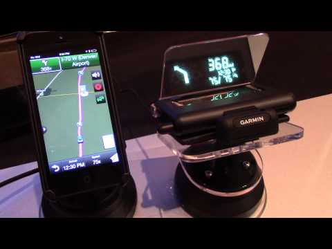 hands on with the garmin hud at ces 2014. Black Bedroom Furniture Sets. Home Design Ideas
