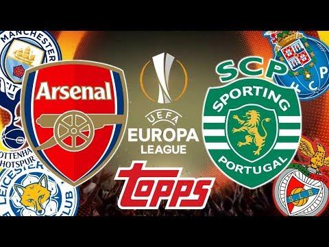 ARSENAL vs SPORTING TAG-TEAM Europa League 2018/19 Cromos Topps