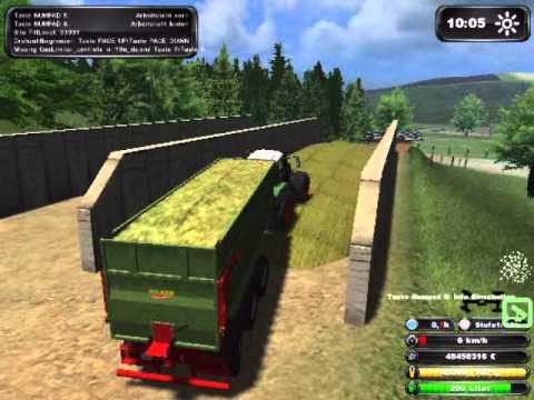 Landwirtschafts Simulator 2011 Mais fahren in die BGA