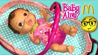 How do you Make YOUR Baby Alive Doll's Bed Video Tag & Noel Feeding with Mcdonald's Emoji Pillow