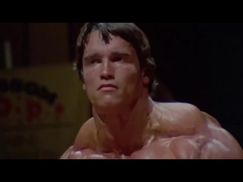 Pumping Iron - Arnold Schwarzenegger Posing on Stage