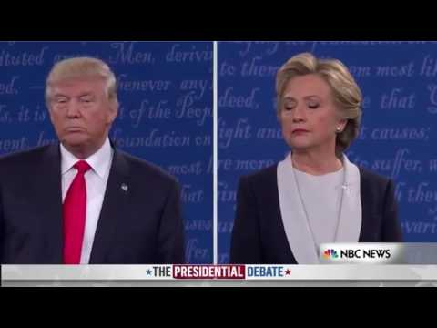 Trump and Hilary singing: \
