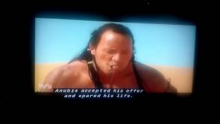 The Mummy Returns Mathayus, The Scorpion King scene