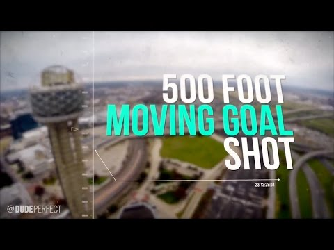 Foot - A basketball shot from a 500 foot tower into a moving goal? Come join our Sports Network! http://bit.ly/DudePerfectWhistle Thanks for 2 Million Subscribers! ...