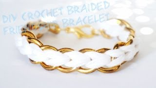 How to: DIY Crochet Braided Chain Bracelet - YouTube