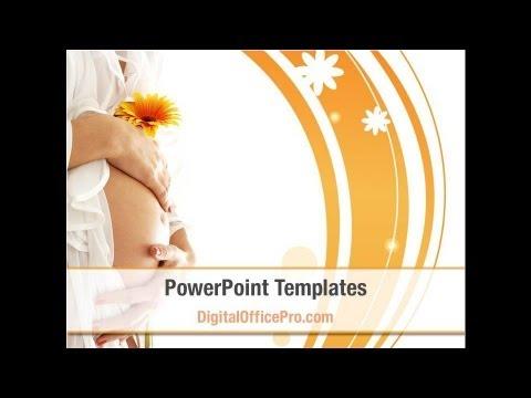 Pregnancy PowerPoint Template Backgrounds - DigitalOfficePro #08837W