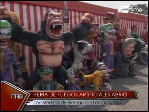 Feria de fuegos artificiales abrió con medidas de bioseguridad en Guayaquil